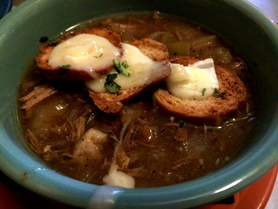 Fire and Wine's onion soup is unique. It's made with