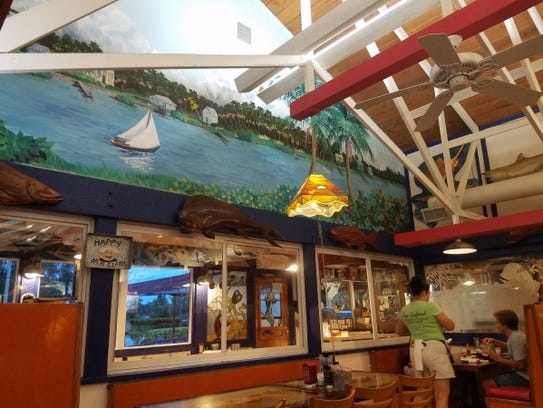 New England Fish Market and Restaurant in Jensen Beach is participating in Taste of Jensen on Dec. 12 in downtown Jensen Beach. Pictured is a view of the inside of the restaurant.