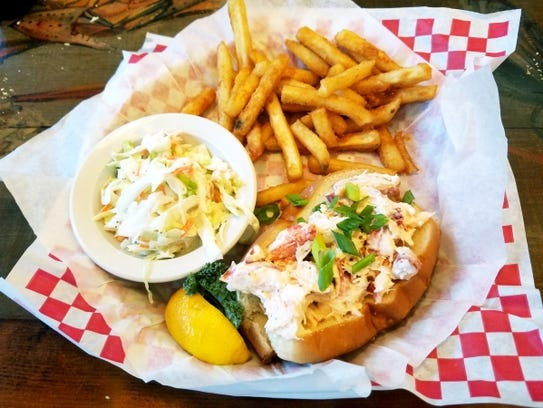 New England Fish Market's lobster roll was Maine lobster