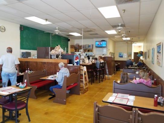 Inside Reubens in the Martin Downs Village Center in