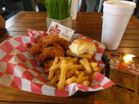 Phatz's five-piece tenders combo with french fries,