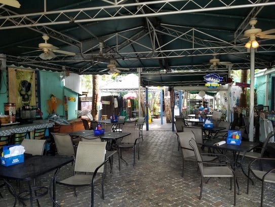 Kona Beach Cafe has open-air setting with three distinct