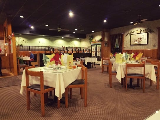The dining room of Peacock Asian Cuisine in Stuart.