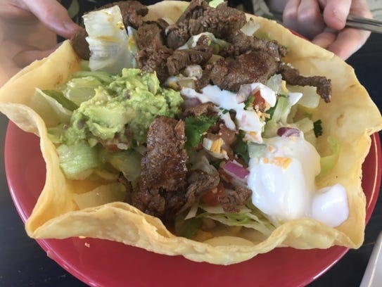 Costa Azul Mexican Restaurant's taco salad was a large