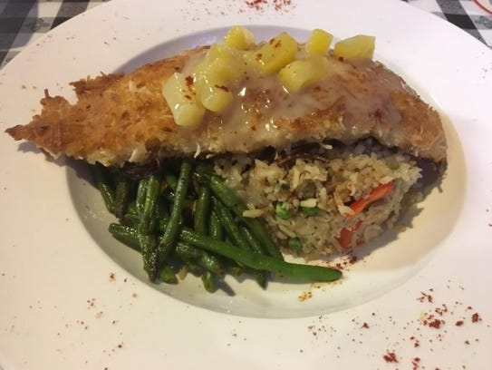 Lola's Seafood's coconut crusted grouper special  was