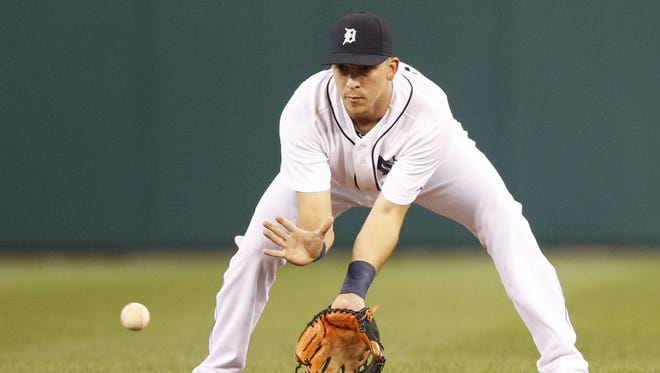 Detroit Tigers' Hernan Perez will see some time in the outfield in 2015.