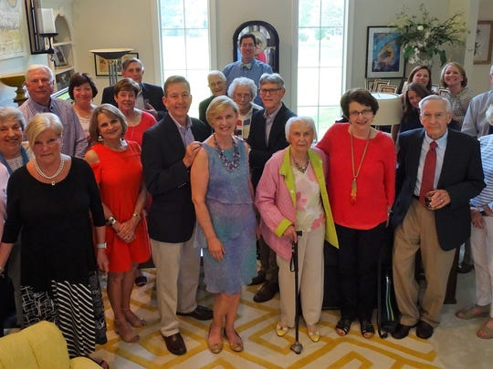 Bidding Farewell - The University of Evansville President's Club Executive committee surrounded Drs. Tom and Sharon Kazee to say farewell and happy retirement. The Executive Committee Chairs, Pat and Danny Bateman, hosted the event at their lovely home.