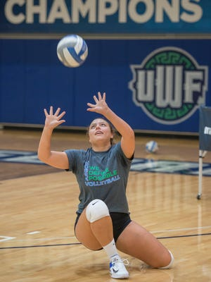 UWF senior Monique StCyr helped lead the Argos to an upset win Thursday ngiht against Wheeling Jesuit.