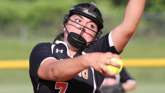 Pawling's Kayla Chavarri delivers a pitch during the