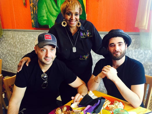 Chef Joe Bastianich, from left, B. J. Chester-Tamayo