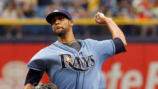 David Price is scheduled to pitch Friday for the Rays.