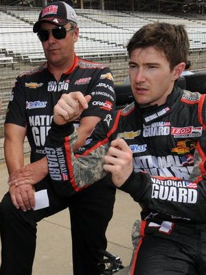 Veteran IndyCar Series engineer David Cripps, left, worked with JR Hildebrand, right, at Panther Racing. They nearly won the 2011 Indianapolis 500.