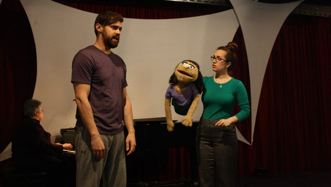 Jimmy Massar and Lindsey Boyer perform as Brian and Kate Monster respectively.
