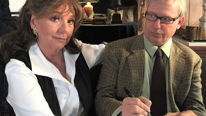 "Dawn Wells, as a patient, and Terry Ray, as the therapist, in Ray's ""TV Therapy"" series."