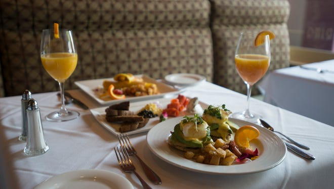 A spread of Sunday brunch items. Many local establishments are offering special Easter menus.