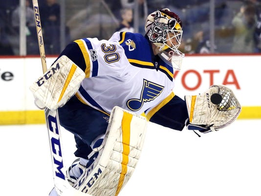 NHL: St. Louis Blues at Winnipeg Jets
