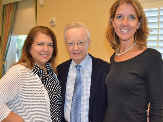 Judith Lemoncelli, left, Bruce McEvoy, and Julia Keenan at the A+ Nonprofit Capacity Building Workshop at Northern Trust Bank in Vero Beach.