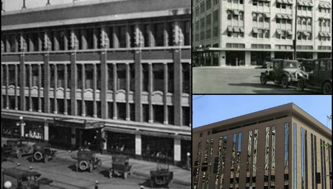 Korricks Store (left and bottom) and the Ellis Building (top) were renovated and modernized, but great architecture can be found under the buildings' new stucco.