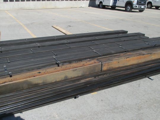 U.S. Customs and Border Protection officers said these metal pipes contained more than 900 pounds of marijuana.