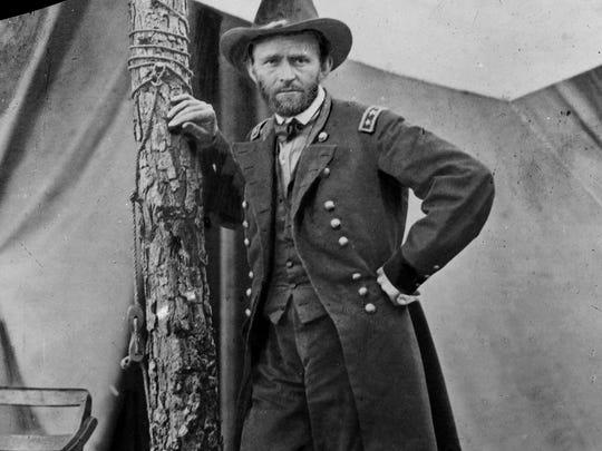 Gen. Ulysses S. Grant at his Cold Harbor, Va., headquarters