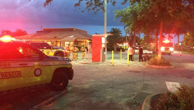 Stuart police and Stuart Fire Rescue respond to a possible gas leak at Denny's in the 2300 block of Southeast Federal Highway in Stuart on Friday, June 1, 2018.