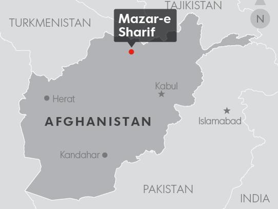Mazar-e Sharif, Afghanistan where an Afghan soldier