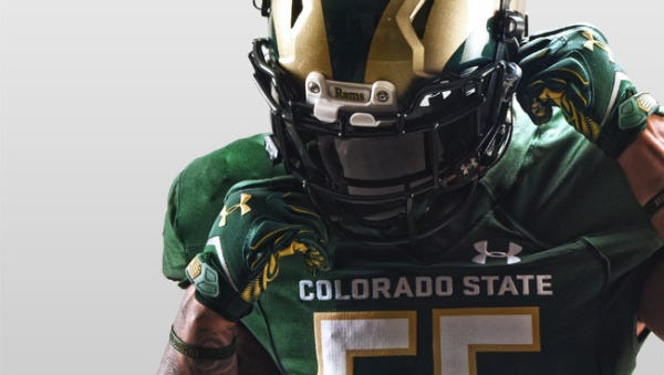 New home uniform for the CSU football team in 2016.