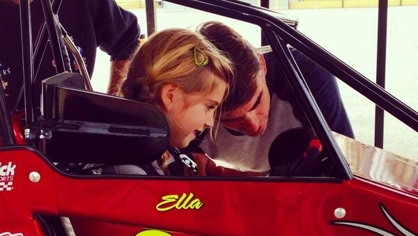 Jeff Gordon and his daughter.
