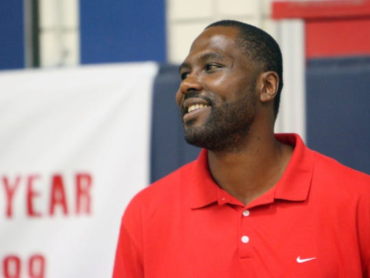 Elton Brand has some fun with friends during his 11th