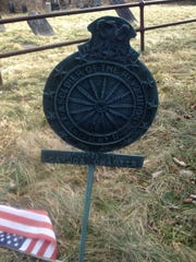 Revolutionary War marker in the cemetery at the Danby