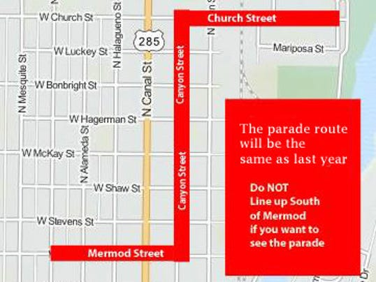 Light Parade route