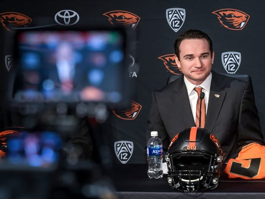 First-year Oregon State head coach Jonathan Smith was