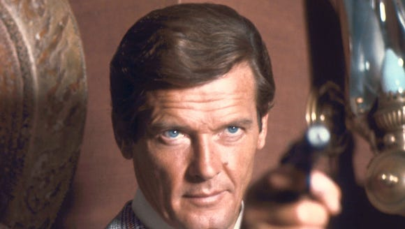 Roger Moore, here in a scene from 'Man With the Golden Gun,' plays a character that spoofs villains from his Bond movies in 'Spice World.'