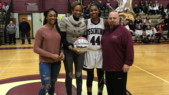 Ossining junior scored her 1,000th career point on