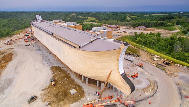 The Ark Encounter, owned by Answers in Genesis, spans 510 feet long, 85 feet wide and 51 feet high. The representation of Noah's Ark, opens July 7, 2016, and located in Williamstown, Ky.