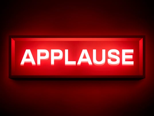 Applause Glowing Sign