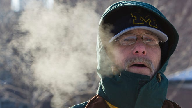 Jeffrey Voorhees battles the cold air. Greater Lafaytte residents who need heating assistance can contact Area IV Agency.