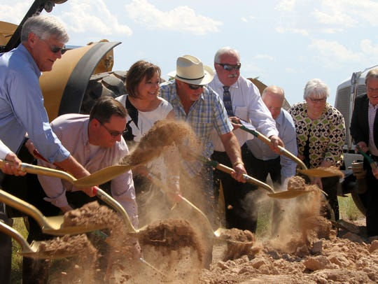 Gov. Susana Martinez breaks ground on a project that