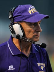 Purvis' head coach Perry Wheat looks on as they take on Sumrall.