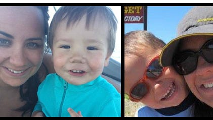 Ashley Deane on Sunday identified the deceased as her children, Austin, 2, and Jacob, 7, and her husband, Rob Deane.