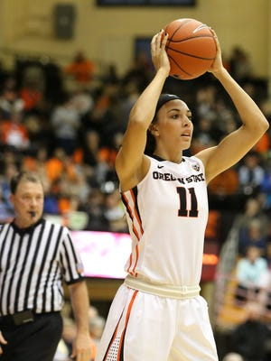 Oregon State guard Gabby Hanson plays a key role for the Beavers, especially on the defensive end.