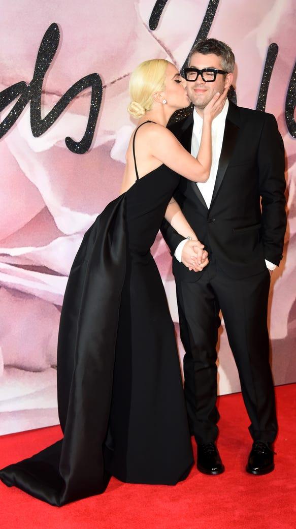 Lady Gaga and desginer Brandon Maxwell attend The Fashion