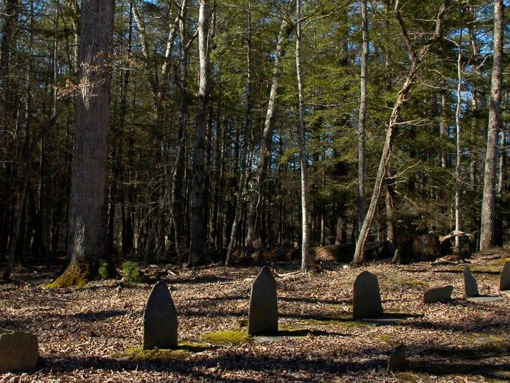 The Primitive Baptist Church cemetery in Cades Cove