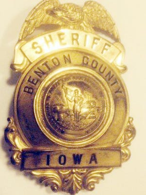 Benton County Sheriff Leland Fry's badge.