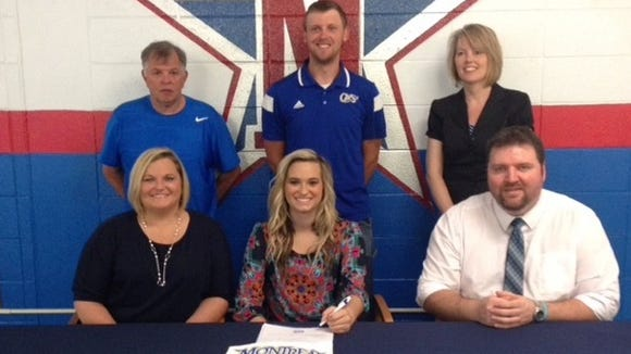 McDowell senior Hayley Taylor has signed to play college tennis for Montreat.