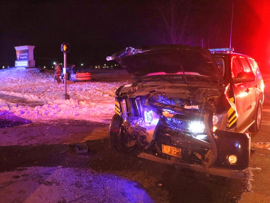 Ashland County sheriff's cruiser in crash.JPG
