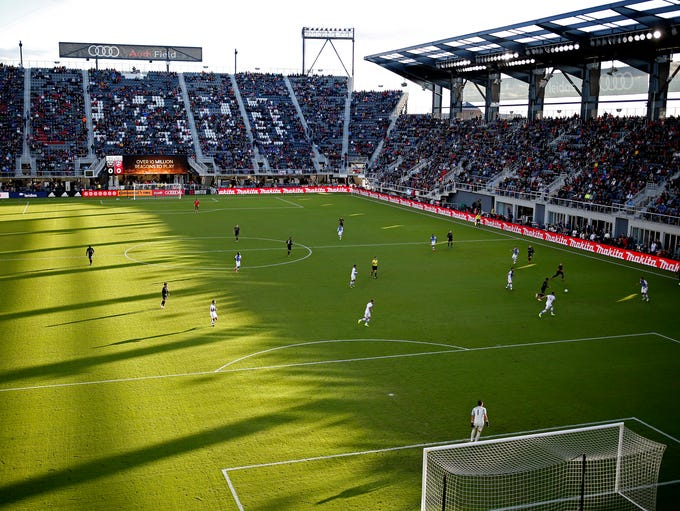 A general view of the match between D.C. United and