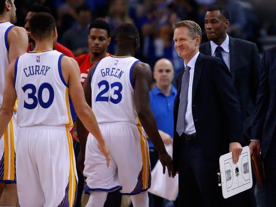 "Golden State coach Steve Kerr has welcomed ""a lot"""