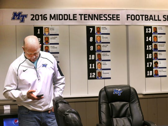 Middle Tennessee football coach Rick Stockstill was
