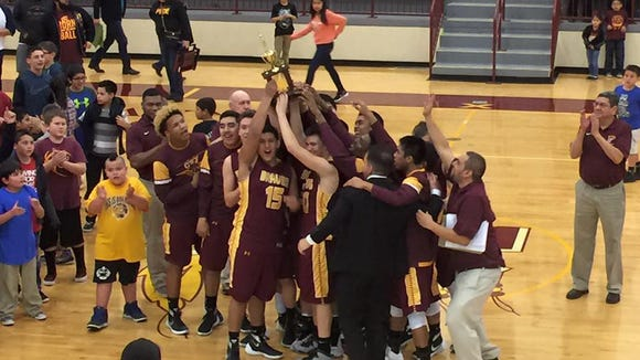 The Cherokee boys basketball team won the Big Smoky Mountain Conference tournament on Friday.